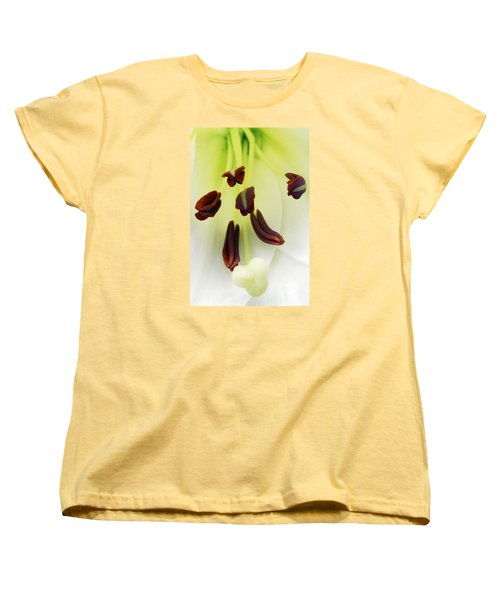 Women's T-Shirt (Standard Cut) featuring the photograph For The Love Of Lilies 1 by Wendy Wilton
