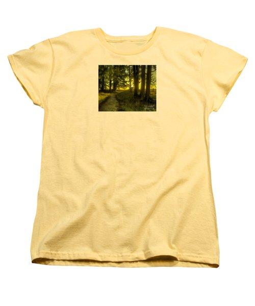 Forest Path Women's T-Shirt (Standard Cut) by Jean OKeeffe Macro Abundance Art