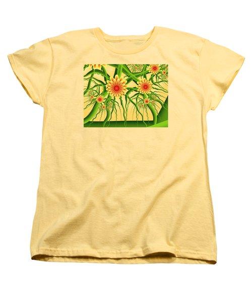 Fractal Summer Pleasures Women's T-Shirt (Standard Cut) by Gabiw Art