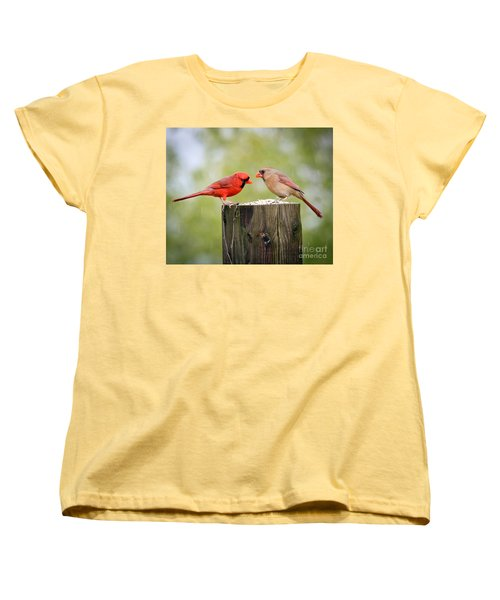 Women's T-Shirt (Standard Cut) featuring the photograph Friends In The Rain  by Kerri Farley