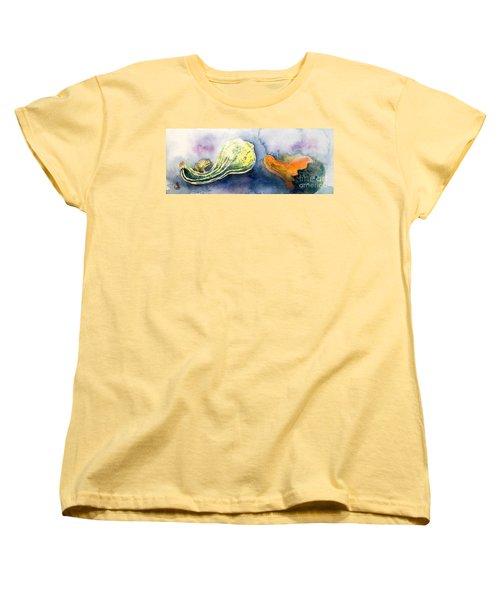 Froggy And Gourds Women's T-Shirt (Standard Cut) by Yoshiko Mishina