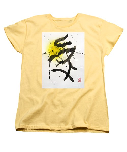Women's T-Shirt (Standard Cut) featuring the painting Frog's Tonguing A Bee by Roberto Prusso