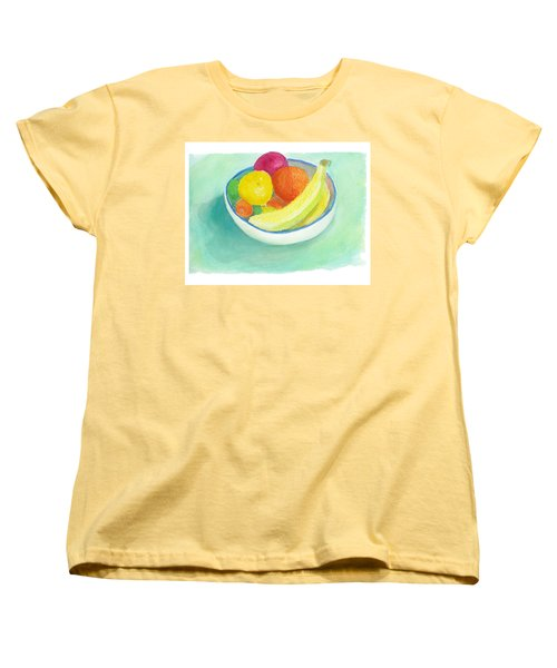 Women's T-Shirt (Standard Cut) featuring the painting Fruit Bowl by C Sitton