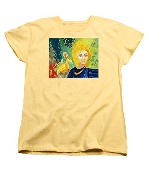 Women's T-Shirt (Standard Cut) featuring the painting Gaia - Spirit Of Nature by Hartmut Jager
