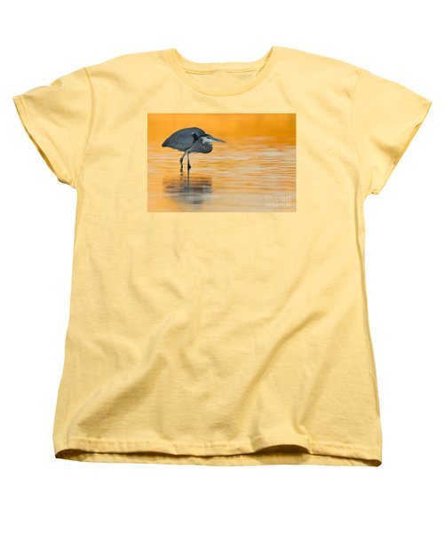 Women's T-Shirt (Standard Cut) featuring the photograph Gbh In Orange Water by Bryan Keil
