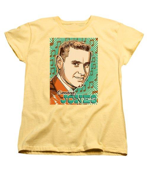 George Jones Pop Art Women's T-Shirt (Standard Cut) by Jim Zahniser