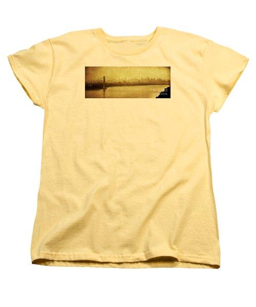 Women's T-Shirt (Standard Cut) featuring the photograph George Washington Bridge by Debra Fedchin