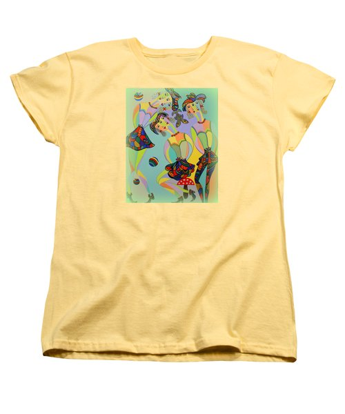 Women's T-Shirt (Standard Cut) featuring the painting Girls Fantasy by Marie Schwarzer