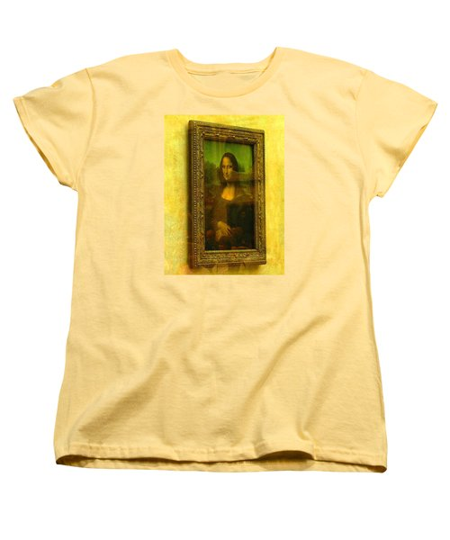 Glance At Mona Lisa Women's T-Shirt (Standard Cut) by Oleg Zavarzin