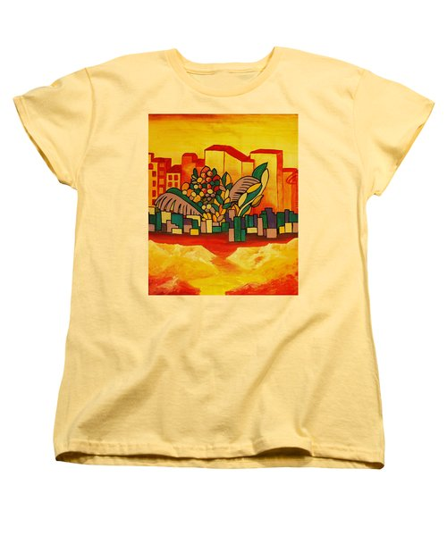 Women's T-Shirt (Standard Cut) featuring the painting Global Warning by Barbara St Jean