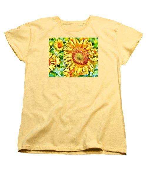 Glorious Sunflowers Women's T-Shirt (Standard Cut)