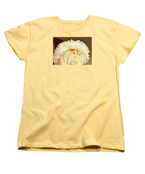 Women's T-Shirt (Standard Cut) featuring the photograph Gnome Santa by Nadalyn Larsen