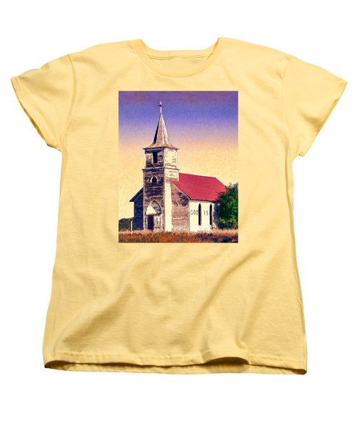 God Is Women's T-Shirt (Standard Cut) by Dominic Piperata