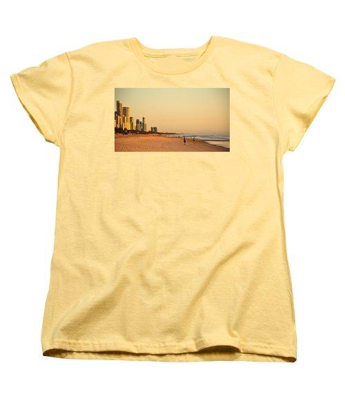 Women's T-Shirt (Standard Cut) featuring the photograph Gold Coast Beach by Eric Tressler