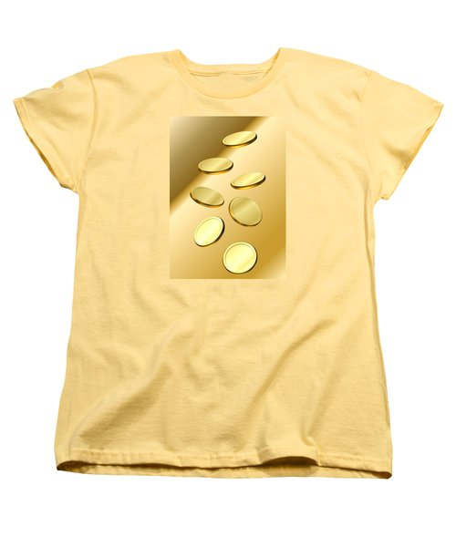 Women's T-Shirt (Standard Cut) featuring the digital art Gold Coins by Cyril Maza