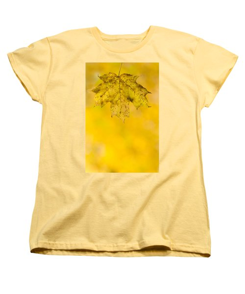 Golden Autumn Women's T-Shirt (Standard Cut) by Sebastian Musial