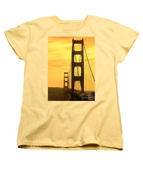 Golden Gate Bridge  Women's T-Shirt (Standard Cut) by Clare Bevan
