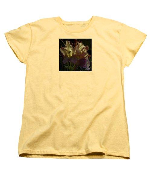 Golden Reserve Women's T-Shirt (Standard Cut) by Jean OKeeffe Macro Abundance Art