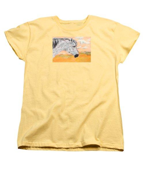 Golden Sky Women's T-Shirt (Standard Cut) by Jeanne Fischer