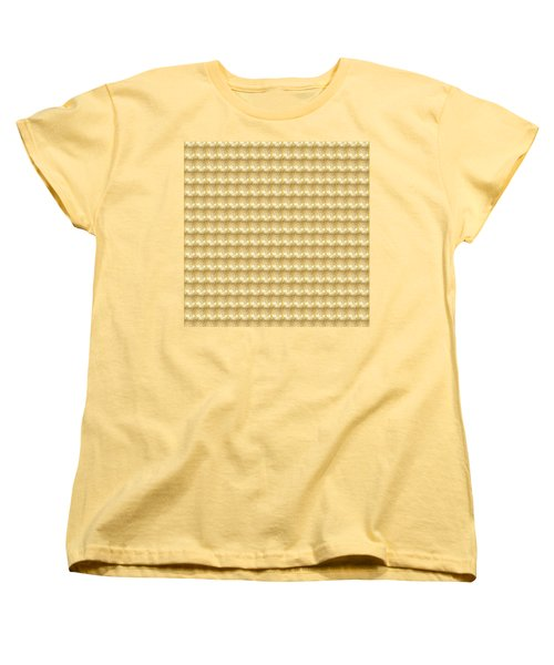 Women's T-Shirt (Standard Cut) featuring the photograph Golden Sparkle Tone Pattern Unique Graphic V2 by Navin Joshi