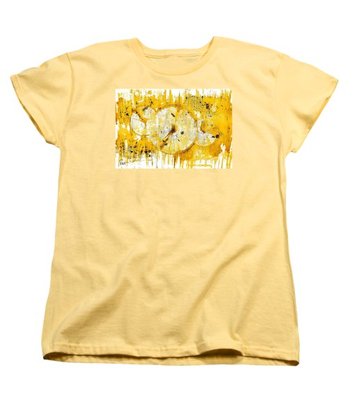 Women's T-Shirt (Standard Cut) featuring the painting Golden Sun Rise - 1290.121912 by Kris Haas