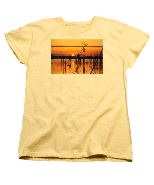 Golden Sunrise Women's T-Shirt (Standard Cut) by Roger Becker