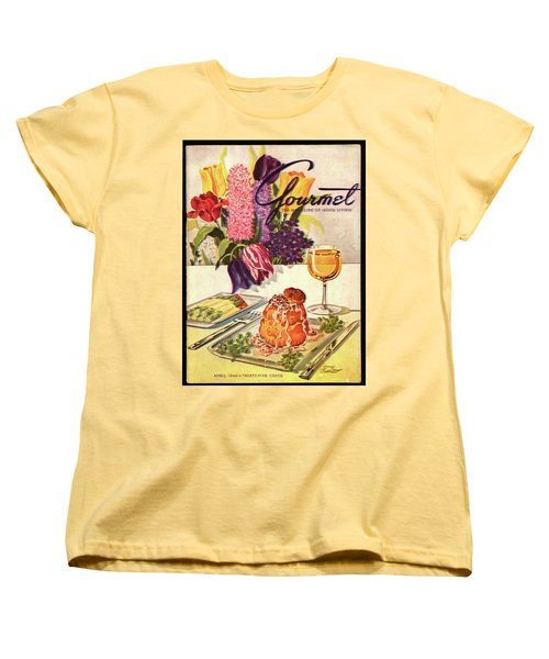 Gourmet Cover Featuring Sweetbread And Asparagus Women's T-Shirt (Standard Cut) by Henry Stahlhut
