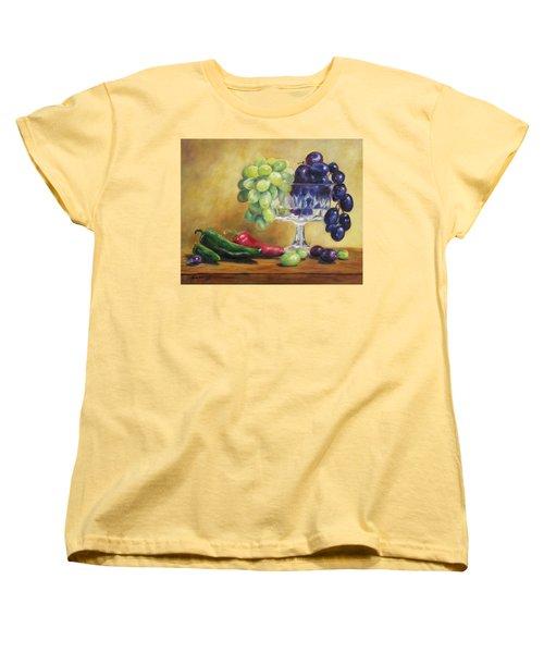 Grapes And Jalapenos Women's T-Shirt (Standard Cut) by Lori Brackett