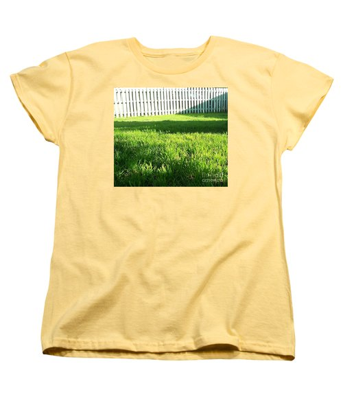 Grass Shadows Women's T-Shirt (Standard Cut) by Susan Williams