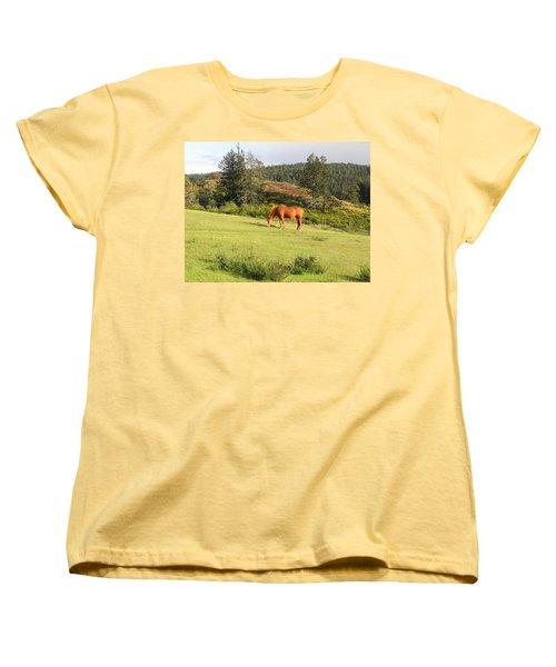 Women's T-Shirt (Standard Cut) featuring the photograph Grazing by Cheryl Hoyle