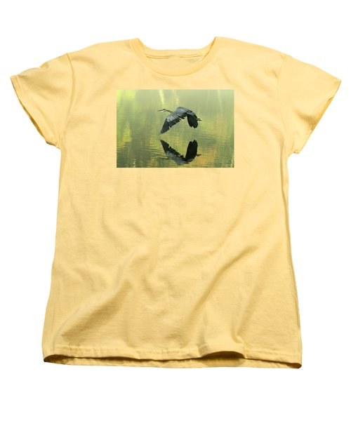 Great Blue Fly-by Women's T-Shirt (Standard Cut)