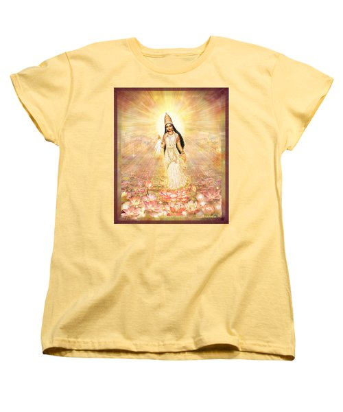 Great Mother Goddess In A Higher Dimension Women's T-Shirt (Standard Cut) by Ananda Vdovic