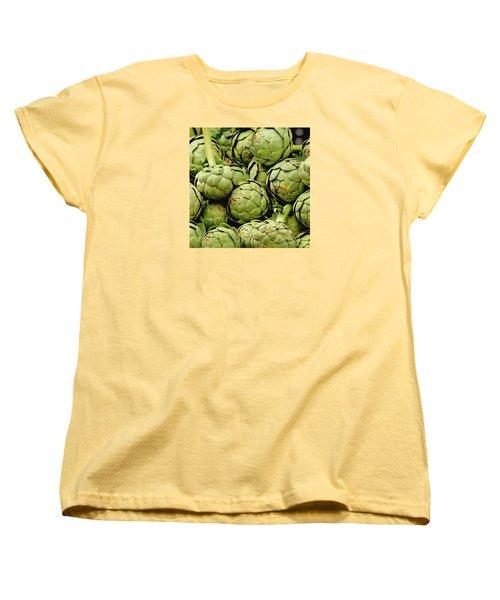 Green Artichokes Women's T-Shirt (Standard Cut) by Art Block Collections
