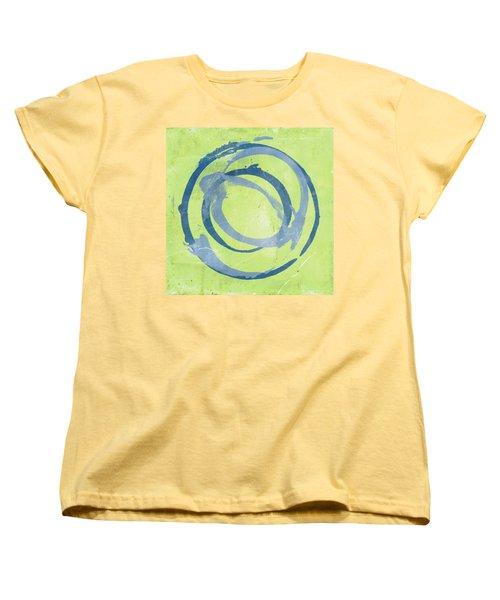 Green Blue Women's T-Shirt (Standard Cut) by Julie Niemela