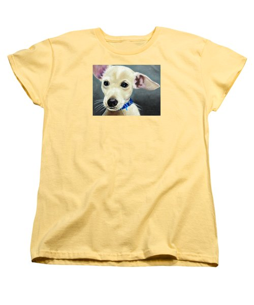 Women's T-Shirt (Standard Cut) featuring the painting Hank by Jeanne Fischer