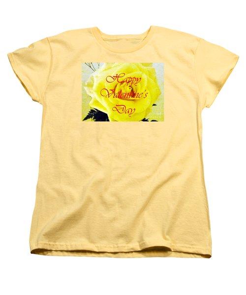 Happy Valentine's Day Women's T-Shirt (Standard Cut) by Barbie Corbett-Newmin