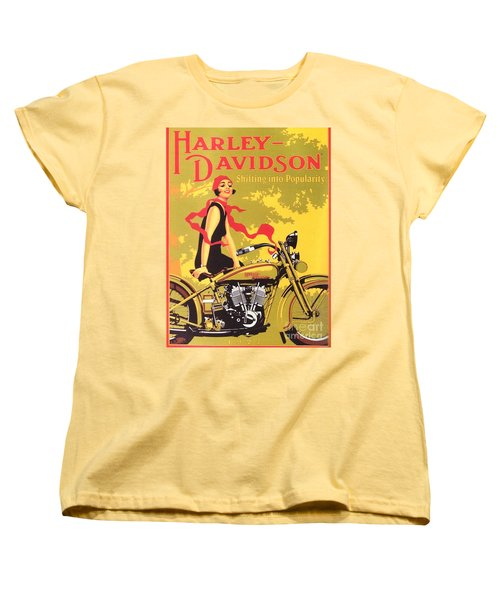 Harley Davidson 1927 Poster Women's T-Shirt (Standard Cut) by Reproduction