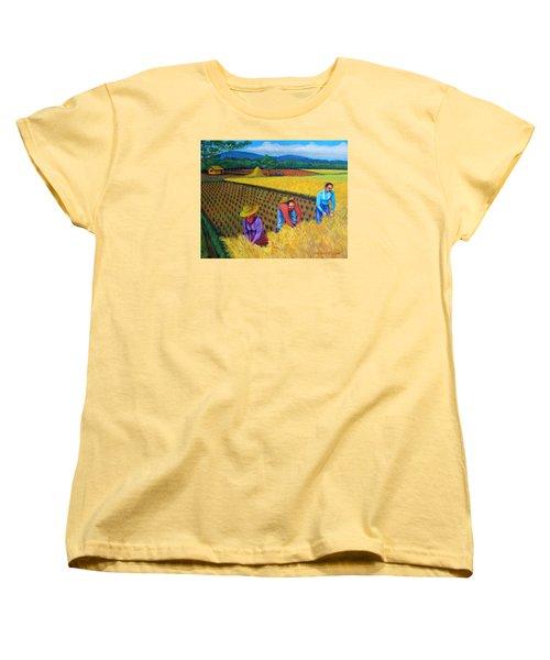 Harvest Season Women's T-Shirt (Standard Cut) by Lorna Maza