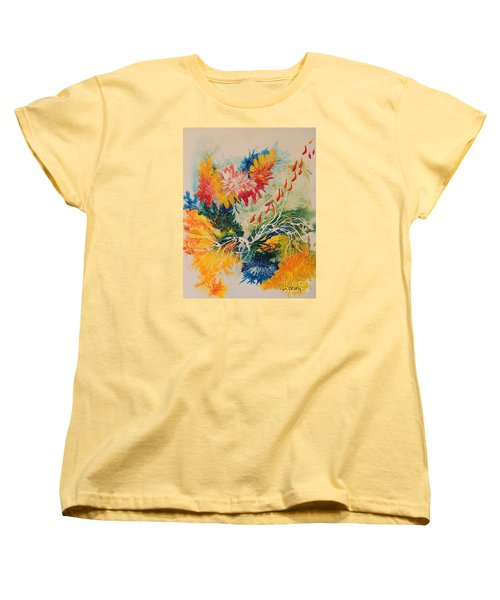 Women's T-Shirt (Standard Cut) featuring the painting Heading Down #1 by Lyn Olsen