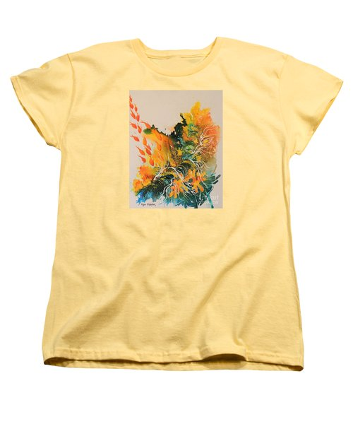Women's T-Shirt (Standard Cut) featuring the painting Heading Down #2 by Lyn Olsen