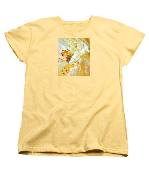 Women's T-Shirt (Standard Cut) featuring the photograph Heart Of Peony by Nareeta Martin