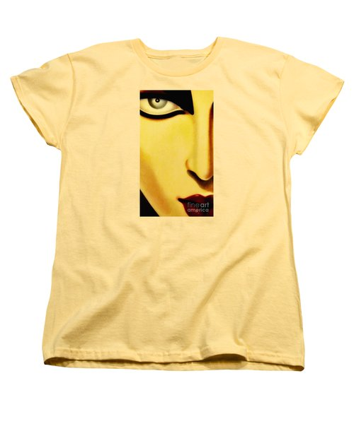 Women's T-Shirt (Standard Cut) featuring the photograph Her Face by Newel Hunter