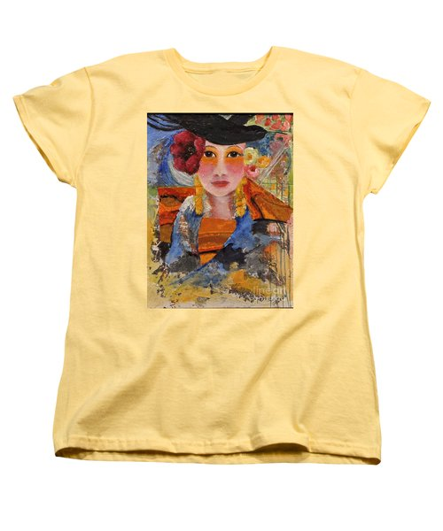 Her Red Flower Women's T-Shirt (Standard Cut) by Glory Wood