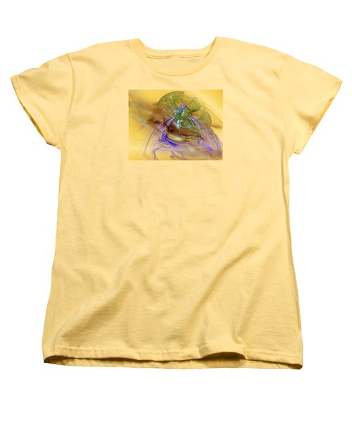 Women's T-Shirt (Standard Cut) featuring the digital art Holiday In Cambodia by Jeff Iverson
