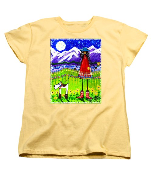 Women's T-Shirt (Standard Cut) featuring the painting Home by Jackie Carpenter