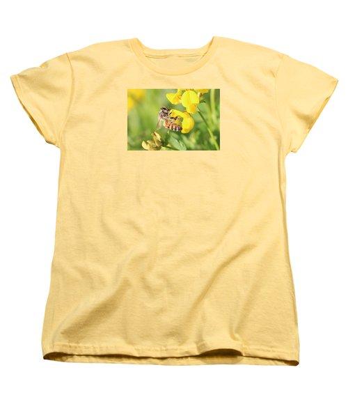 honeybee on Birdsfool Trefoil Women's T-Shirt (Standard Cut) by Lucinda VanVleck