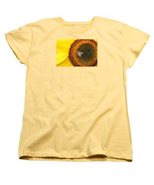 Honeybee On Sunflower Women's T-Shirt (Standard Cut) by Lucinda VanVleck