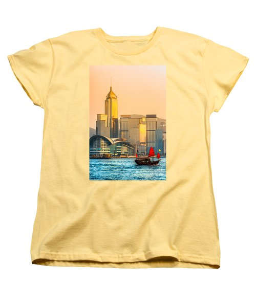 Hong Kong. Women's T-Shirt (Standard Cut) by Luciano Mortula
