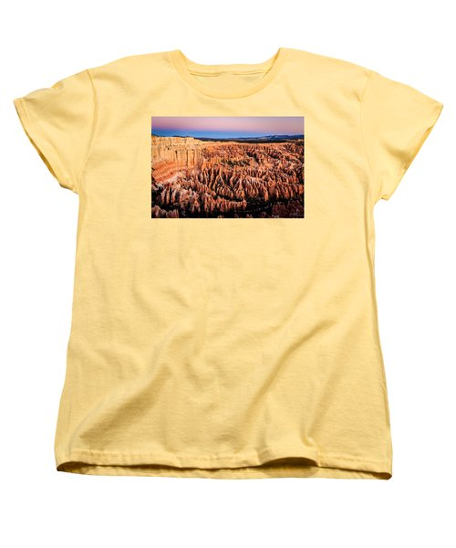 Women's T-Shirt (Standard Cut) featuring the photograph Hoodoos At Sunrise by Peta Thames