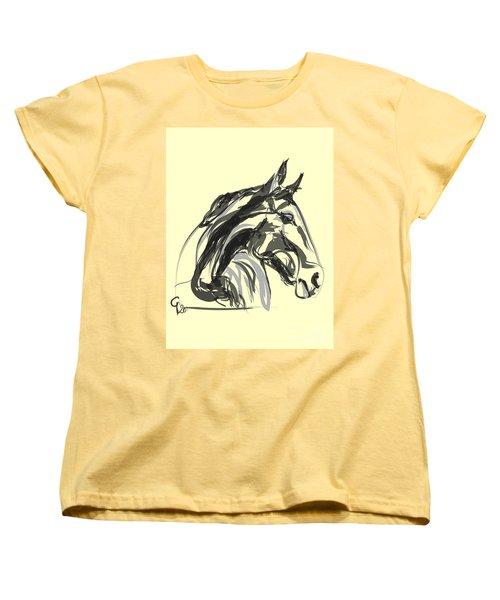 Women's T-Shirt (Standard Cut) featuring the painting horse - Apple digital by Go Van Kampen